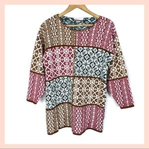 DIANA MARCO vintage oversized knit sweater Large